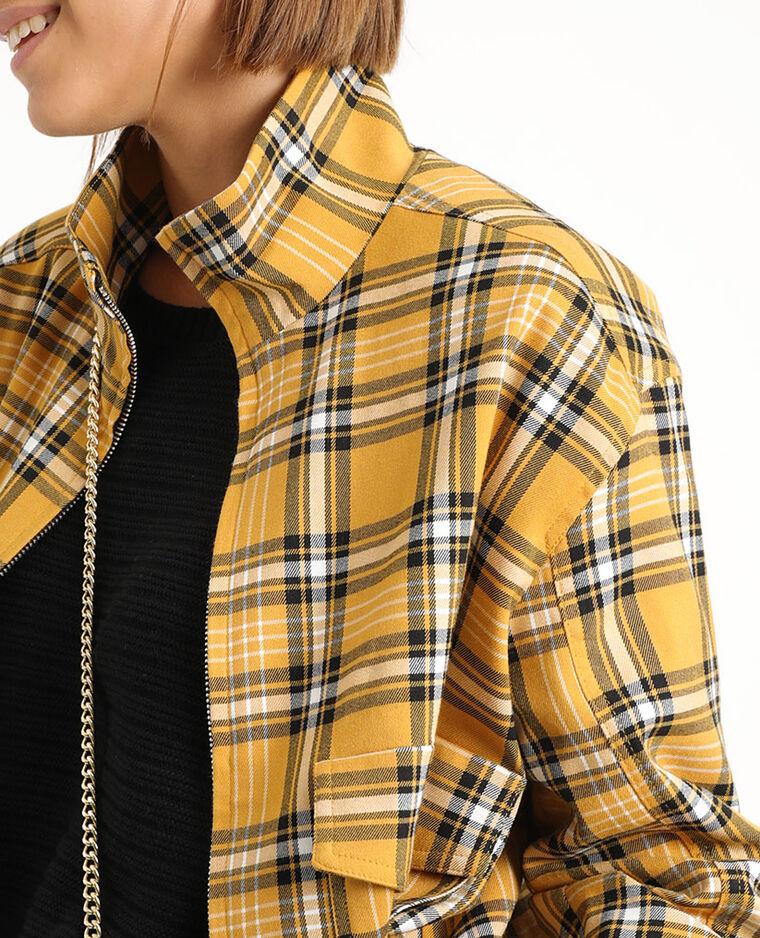 Veste à carreaux jaune