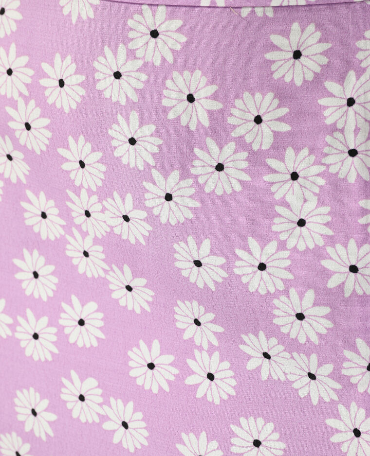 Jupe midi fleurie violet - Pimkie