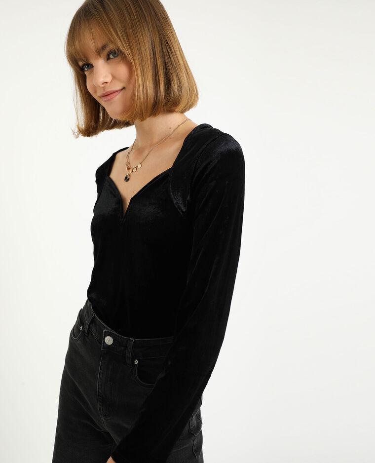 Top velours noir - Pimkie