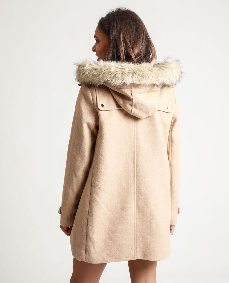 Manteau à capuche camel - Pimkie
