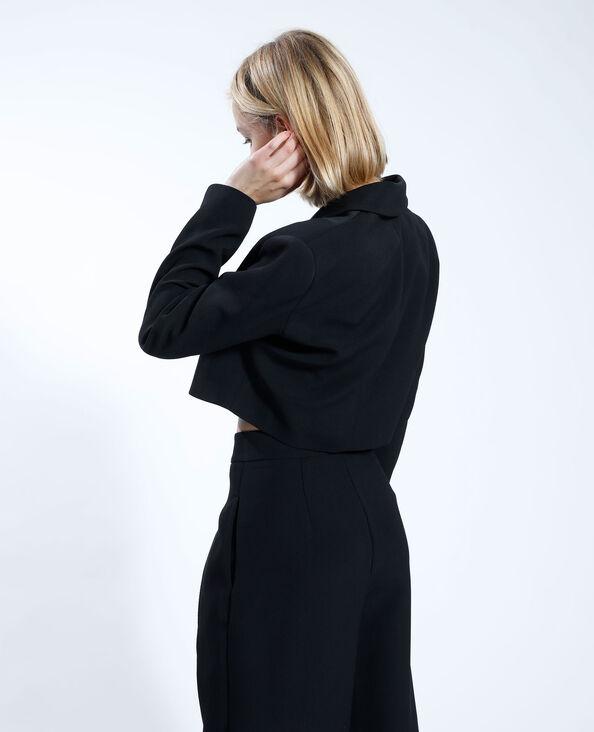 Blazer oversize et cropped noir - Pimkie