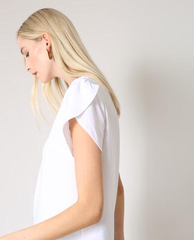 Blouse à manches courtes blanc