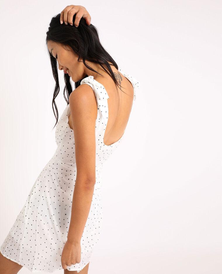 Robe à imprimé blanc