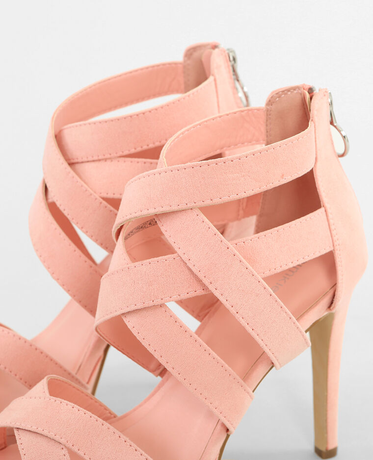 sandales talons hauts roses rose poudr 902575259a02 pimkie. Black Bedroom Furniture Sets. Home Design Ideas