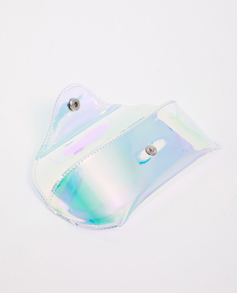 Etui à lunettes effet holographique blanc