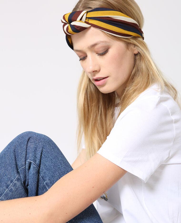 Headband à rayures noir