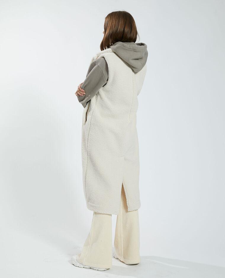 Manteau long sans manches beige - Pimkie