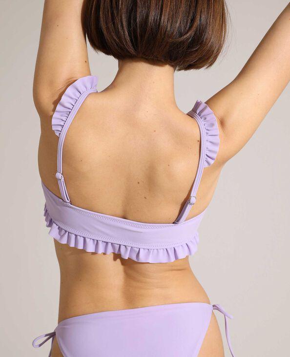 Haut de maillot de bain triangle volanté rose - Pimkie