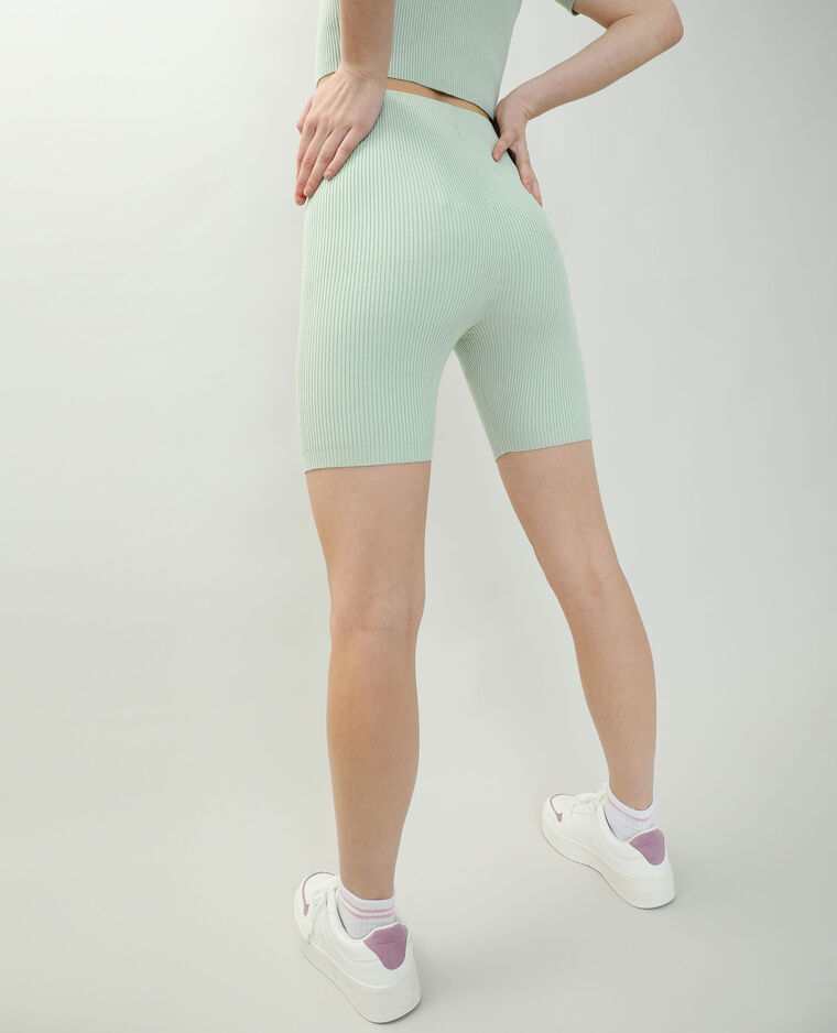 Cycliste côtelé vert - Pimkie
