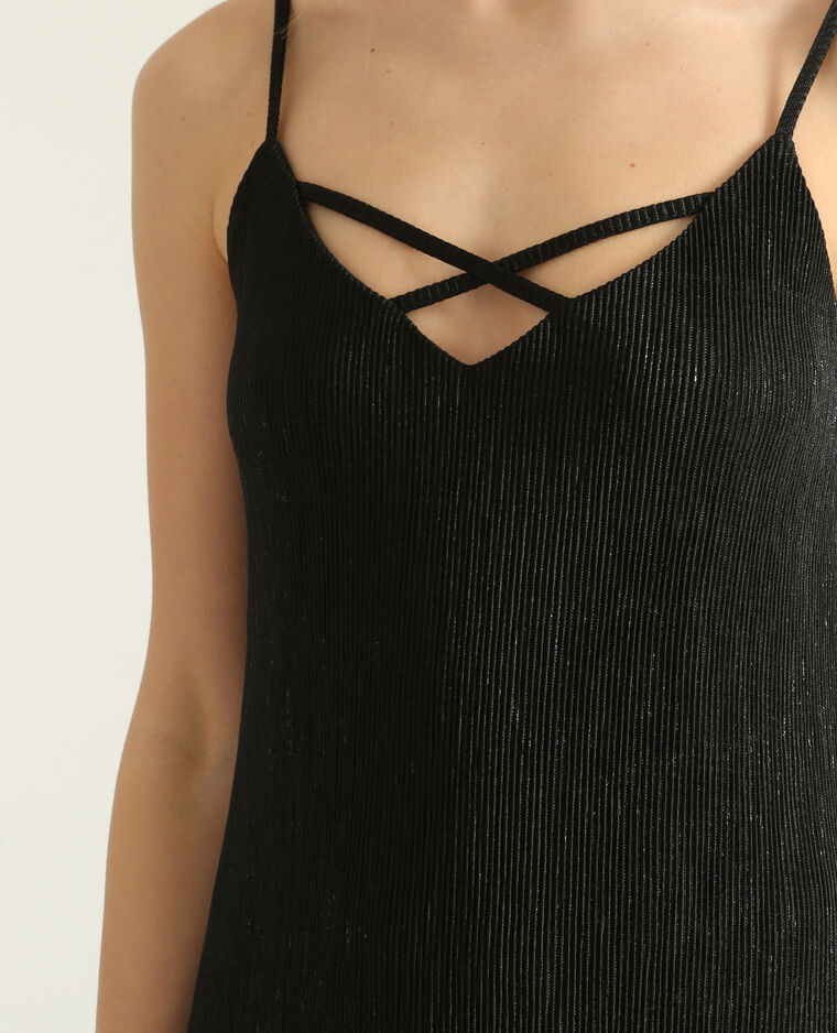 Robe texturée noir