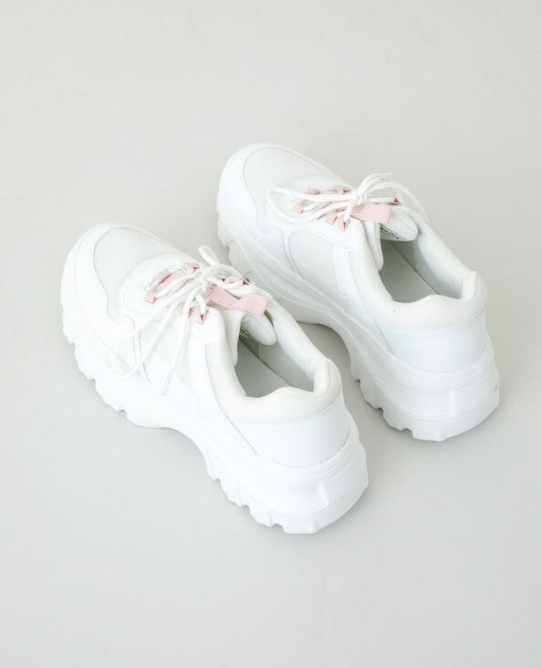 Baskets dad shoes blanc cassé - Pimkie