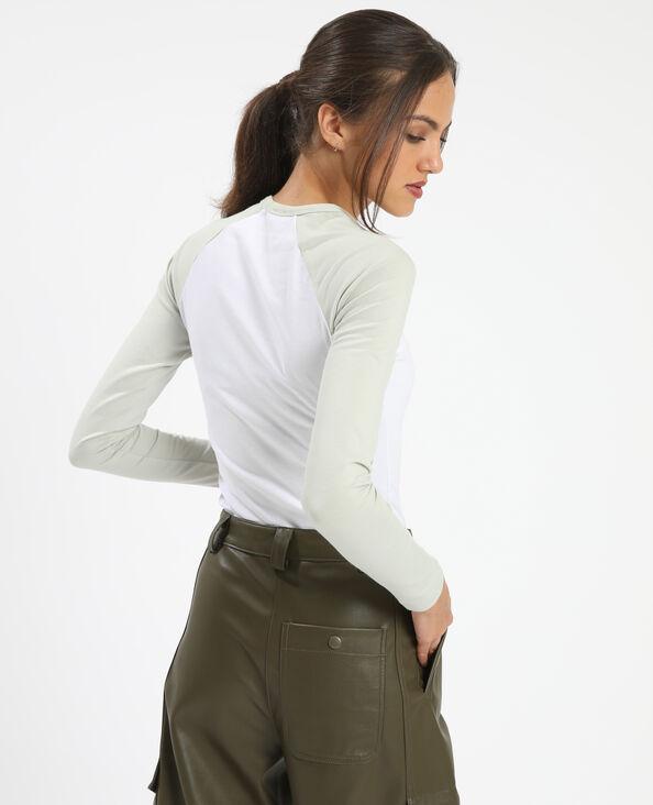 T-shirt manches raglan vert - Pimkie