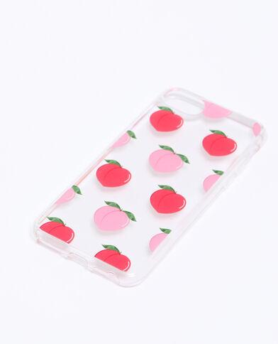 Coque imprimé pêches compatible Iphone orange
