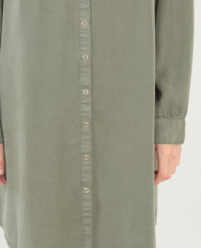 Robe chemise fluide vert