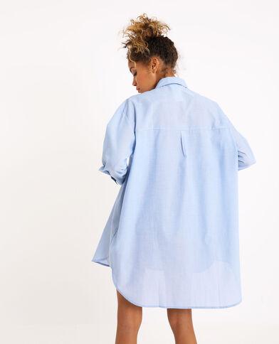 Chemise oversized bleu ciel
