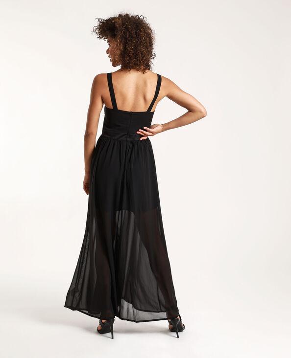 Robe longue Stéphanie Durant x Pimkie noir