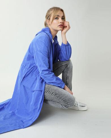 Coupe-vent long bleu
