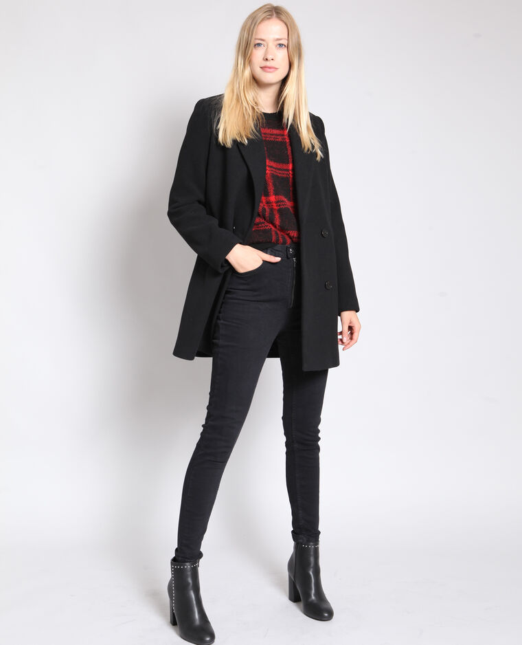 Skinny zip apparent noir