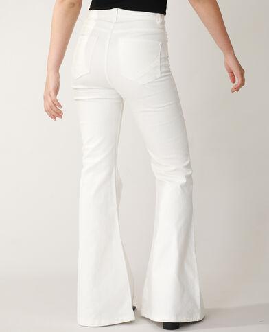 Jean flare high waist blanc