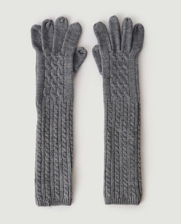 Paire de longs gants torsadés gris usé - Pimkie