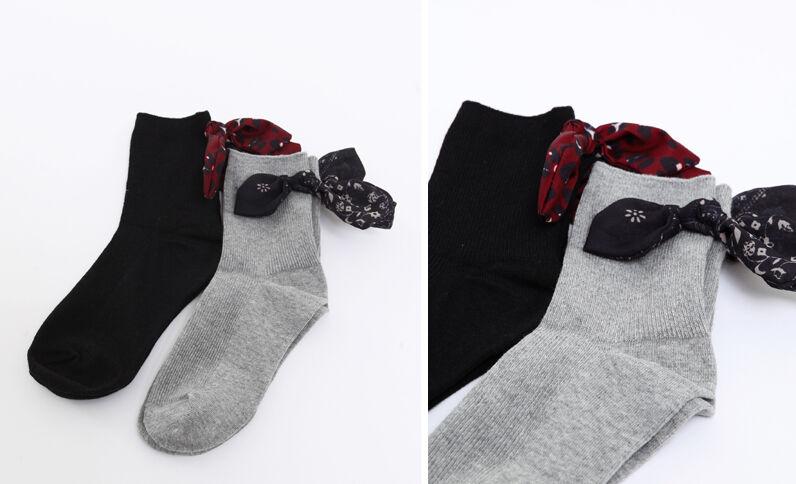 c70ab07f9ba Lot de 2 paires de chaussettes à ruban gris perle