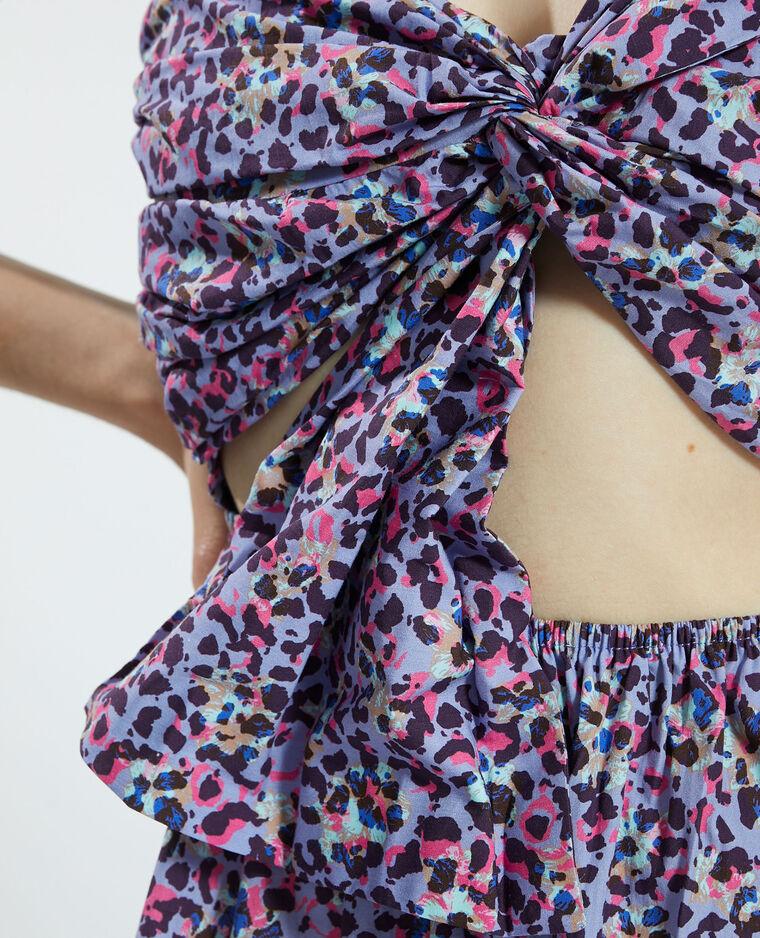 Robe nouée avec découpe violet - Pimkie