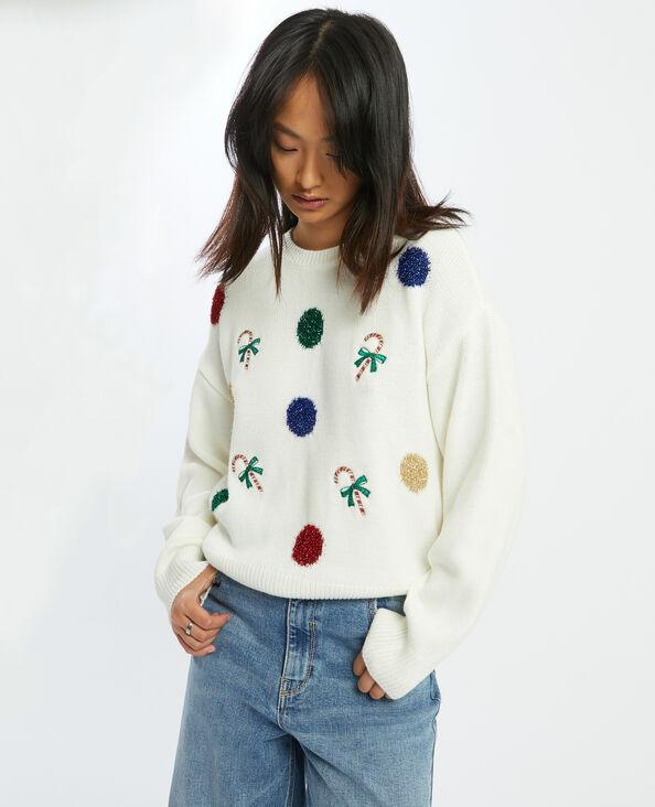 Pull motif décoration Noël blanc - Pimkie