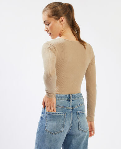 Body torsadé poitrine marron - Pimkie
