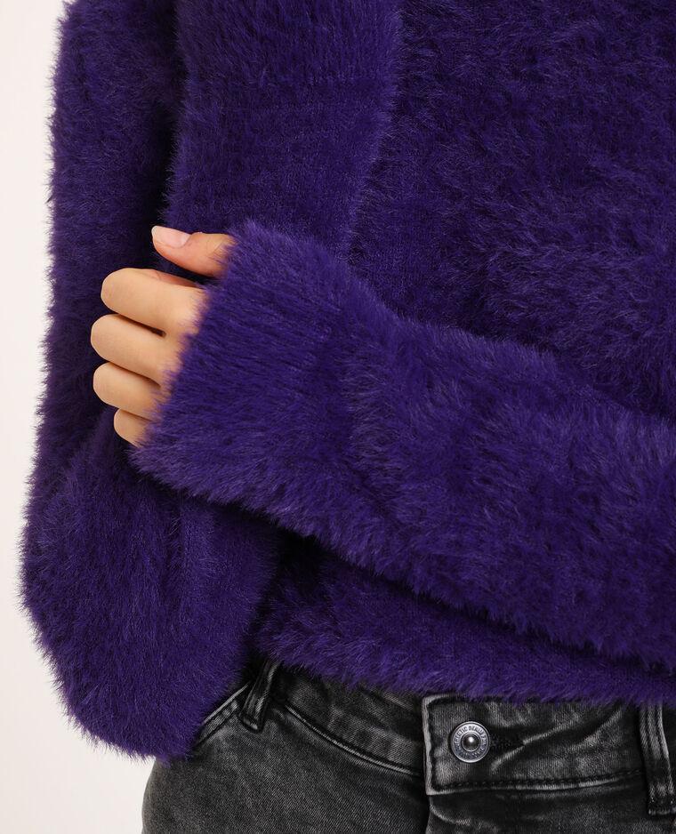 Pull à poils violet
