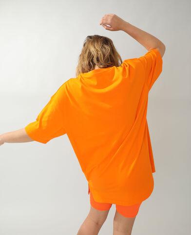 T-shirt basique oversize orange
