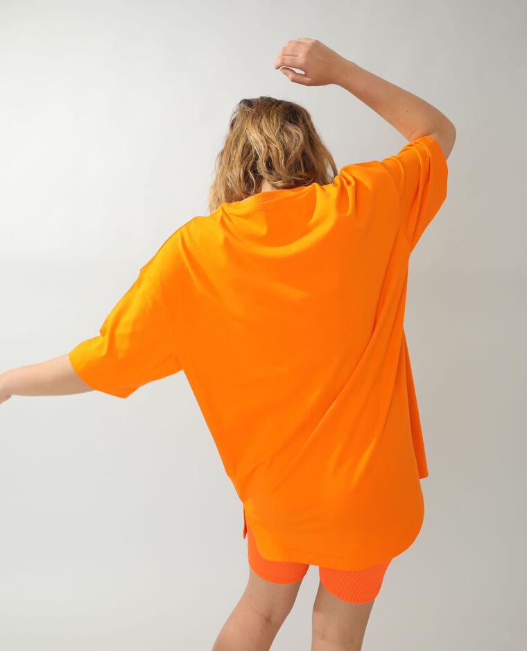 T-shirt basique oversize orange - Pimkie