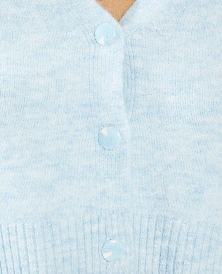 Gilet boutonné bleu - Pimkie