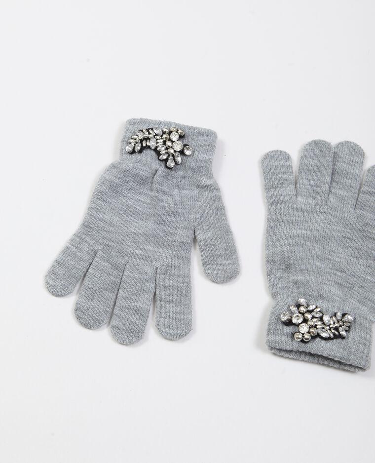Gants à bijoux gris