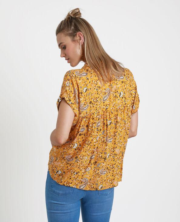 Chemisier à imprimé cachemire jaune