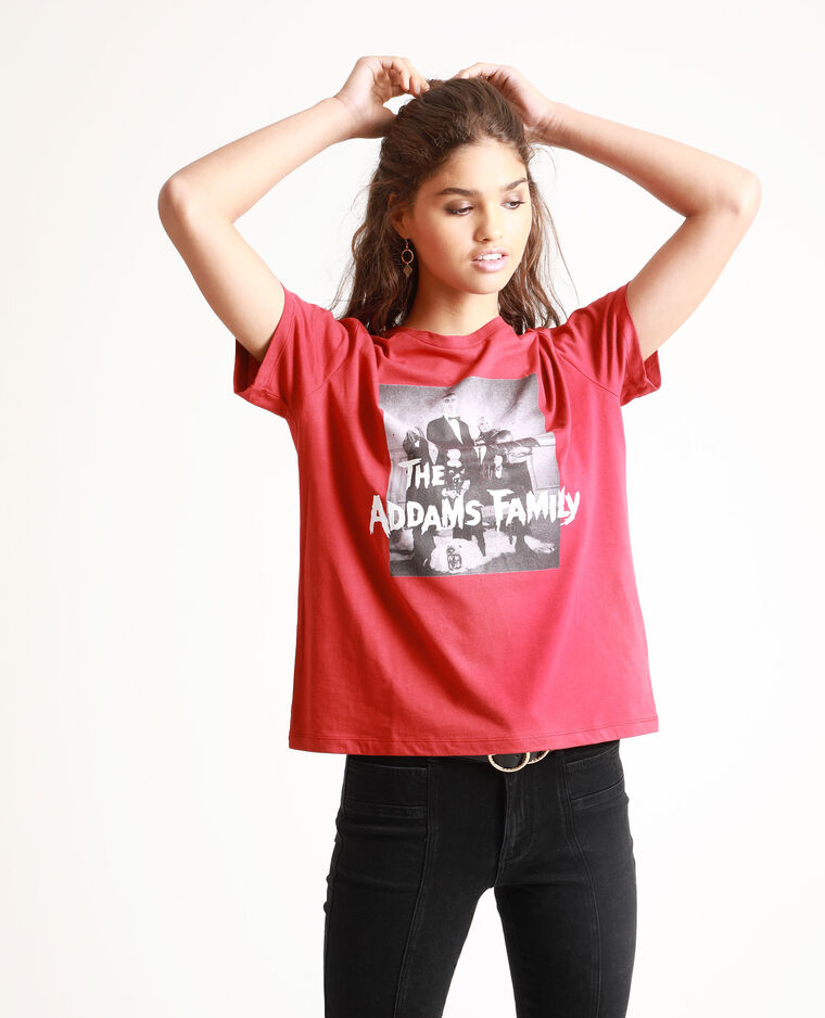T-shirt La famille Addams rouge