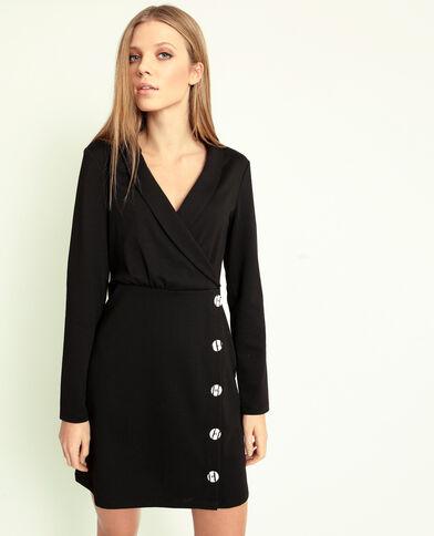 1cfb93450a6 Robe à boutons noir