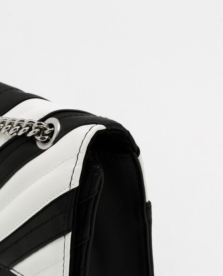 Sac boxy bicolore noir - Pimkie