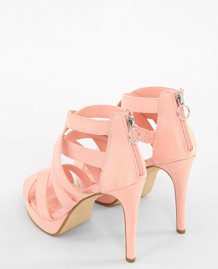 Sandales à talons hauts roses rose poudré