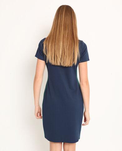 6179d6dc514 Robe t-shirt bleu foncé