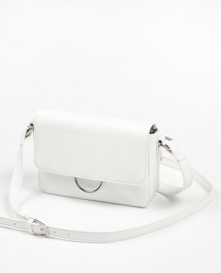 Petit sac boxy similicuir blanc