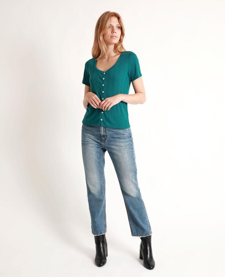 T-shirt à manches courtes bleu-vert - Pimkie