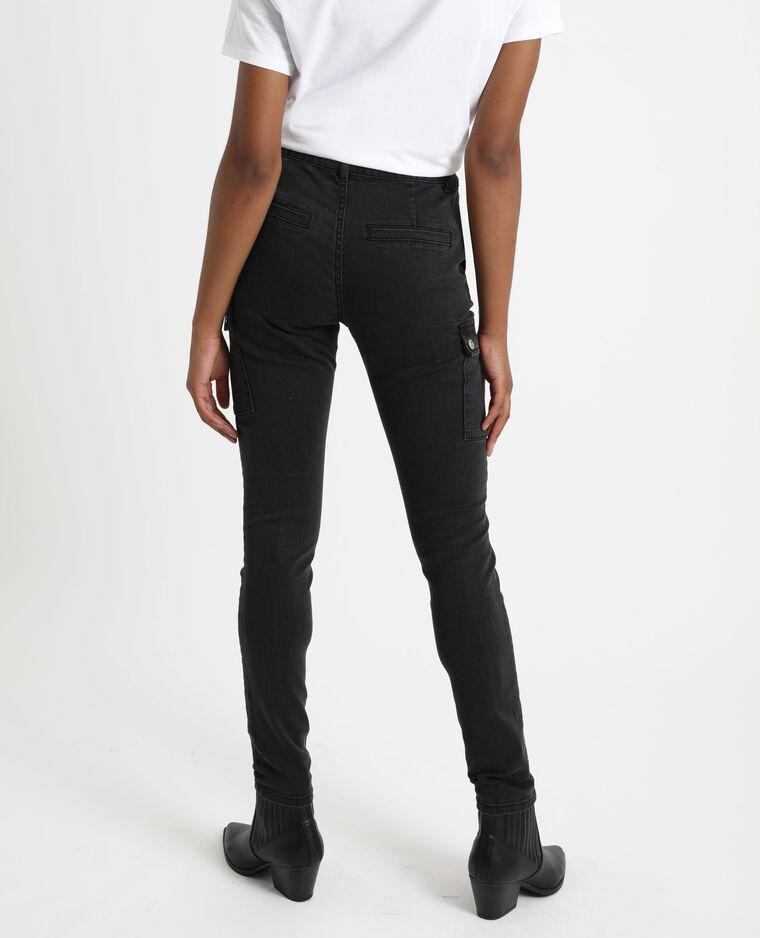 Jean slim à poches noir