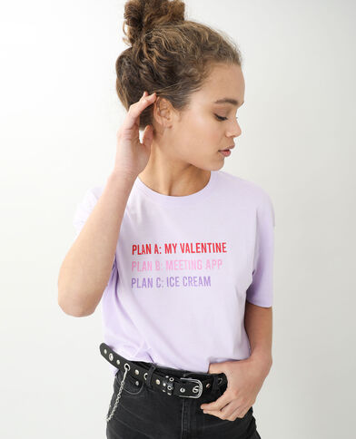 T-shirt oversize manches courtes violet