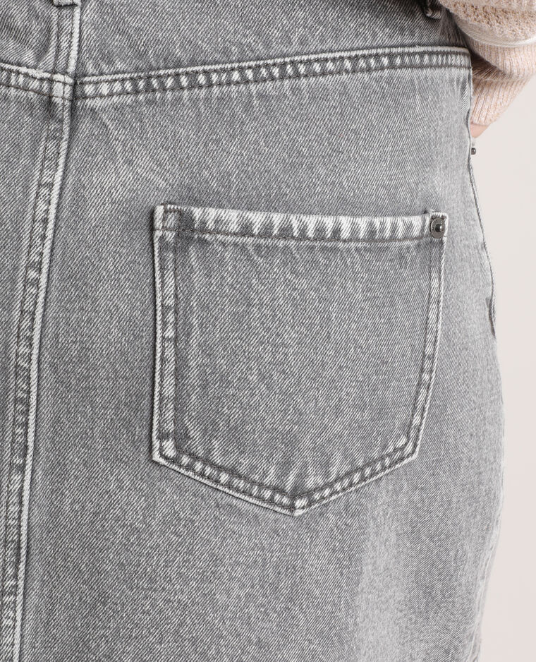 Jupe en jean gris