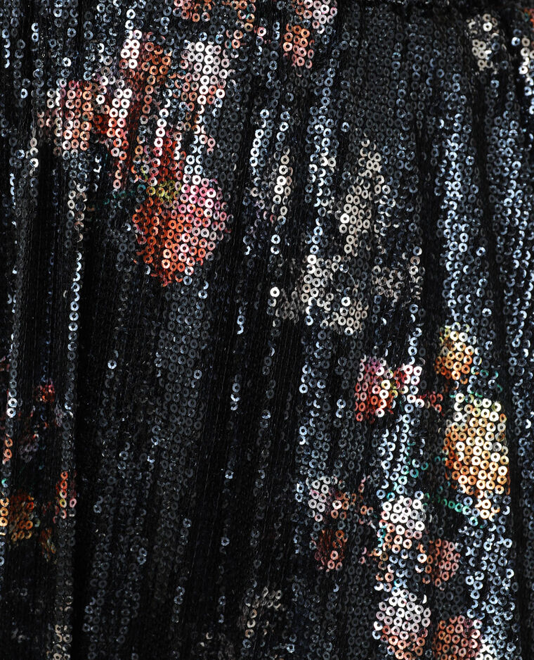 Jupe plissée à sequins noir - Pimkie