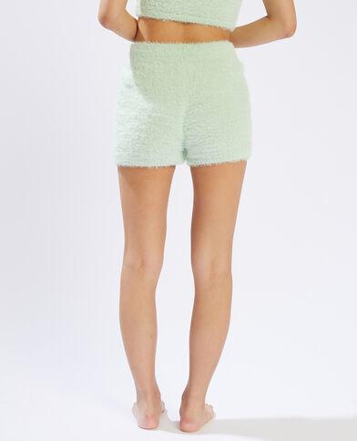 Short en maille poilue vert - Pimkie