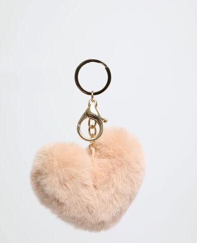 Porte-clés cœur gris clair