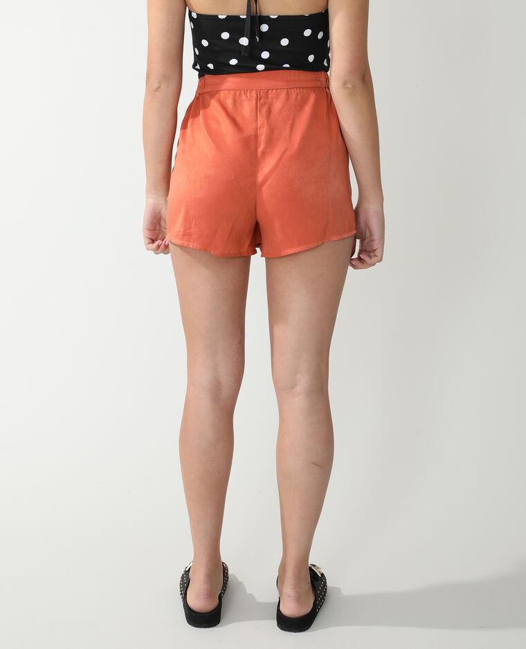 Short satiné orange - Pimkie