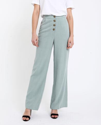 Pantalon 30% lin vert d eau 2e5647346b0