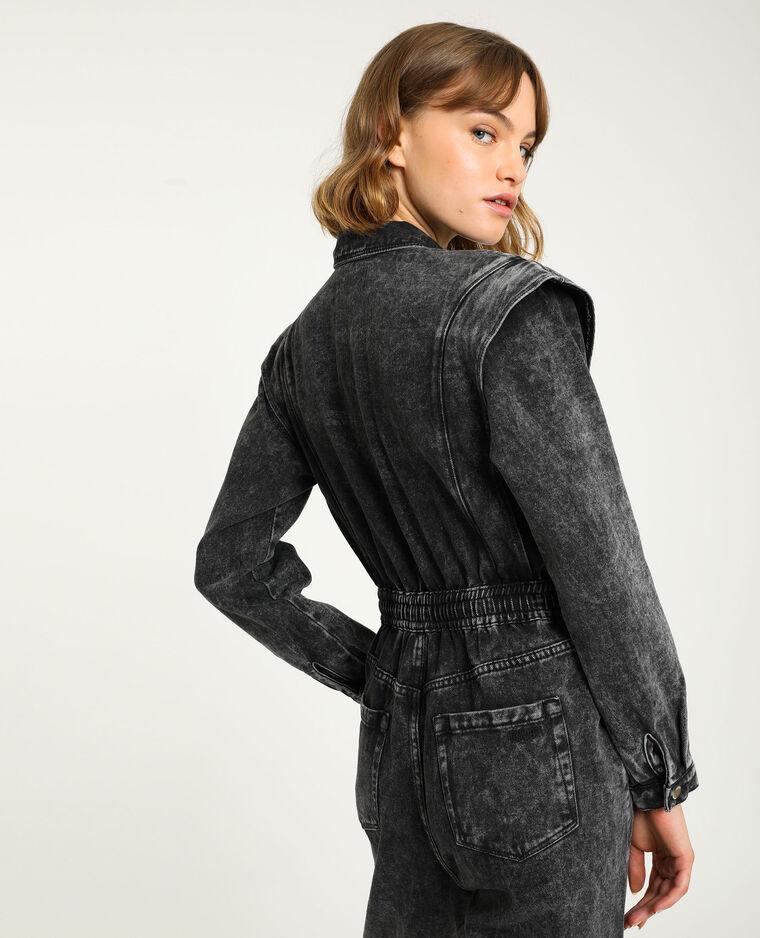 Combipantalon en jean gris délavé - Pimkie
